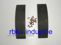 Borgward Bremsbeläge 50 x 6 x 221 inkl. Nieten 4 x 10